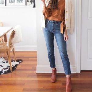 Everlane high rise straight ankle jeans 29